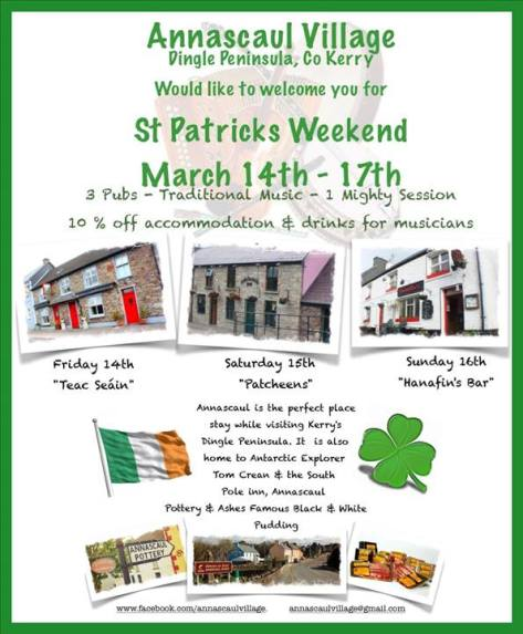 Annascaul Village: St Patrick's Weekend 14-17 March 2014