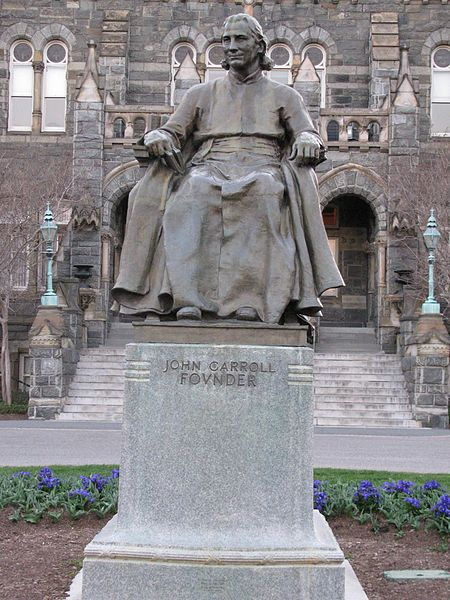 Statue of Archbishop John Carroll, founder of Georgetown University, 1911