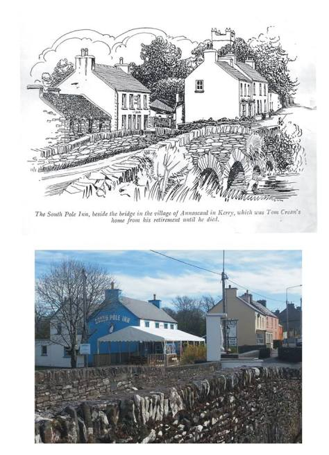 The South Pole Inn pictured in 1952 and 2014