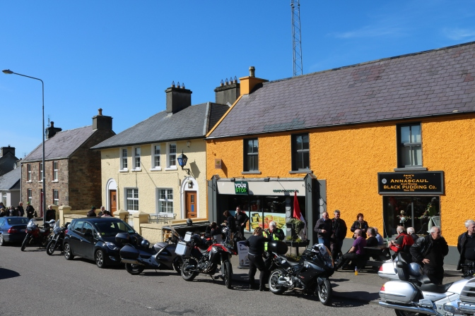 Annascaul is looking well in the sun today to welcome Limerick and District Motorcycle Club.